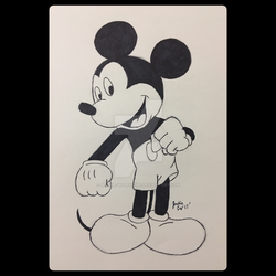 Mickey Mouse - Inktober 2017 by Ayame-Wolfhowl