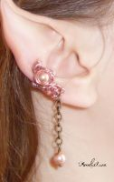 Pink Pearls Ear Cuff by AmeliaLune