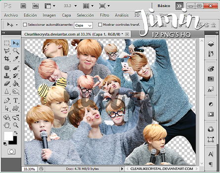 #017 Jimin | BTS | Pack Png by jellycxt