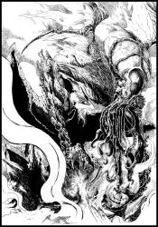 Cthulhu Rises [ink ver.] by Hyxs