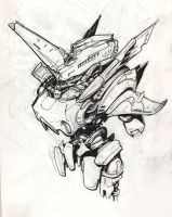 Bad Ass Mech Drawing. by Art--Tool