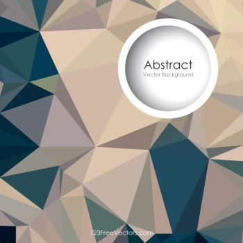 Blue Beige Polygonal Background Free Vector by 123freevectors