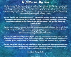 Letter to my Son by ZandKfan4ever57