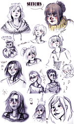 Sketches... no time to draw by SteamBerry