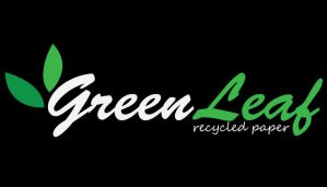 green leaf logo by upgraded