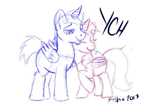 YCH - cuddling couple by fishiewishes