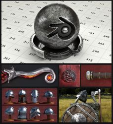 Metal material for Blender (no UV's needed) by Nikola3D