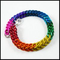 Solid Rainbow Persian Bracelet by redpandachainmail