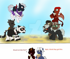 My Little Kaiju AU: Your in the Wrong Neighborhood by FallenAngel5414