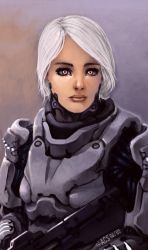 A Soldiers Portrait - Diya by Shimmering-Sword