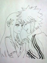 Minato and Kushina by wolfwarrior28