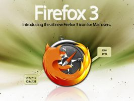 Firefox 3 Mac Icon by DecompositionBeauty