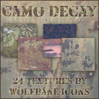 Camo Decay Icon Textures by jordannamorgan