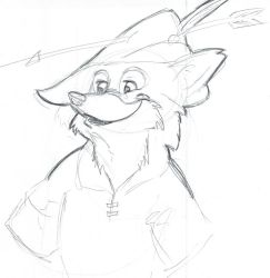 Robin Hood Speed Sketch by witchiamwill