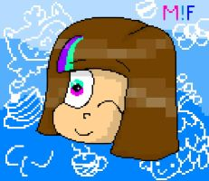 Mascot!Frisk Pixel ( 2 version ) by YuliaRabbid
