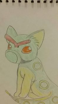 Vulpix / Caterpie Fusion by StarDust176