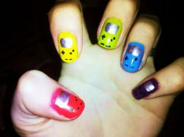 Gameboy Color Nails by Chelseapoops