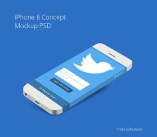 iPhone 6 Concept Mockup PSD by softarea