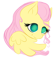 FluttershySimpleChibi by ChovexaniArt