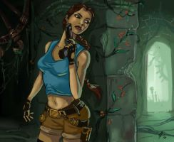 Lara Croft in Zathvana Temple by MarylinFill