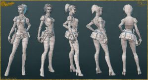Lady Mechanika: AO, Normals, and Wires by YBourykina