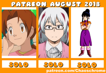 August 2018 Patreon schedule by chaoschrome