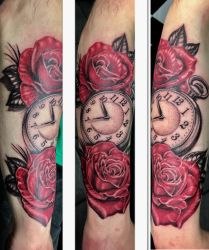 Pocket watch and roses by Shadow3217