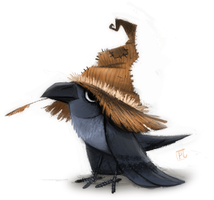 Day 707. Crow Quickie by Cryptid-Creations