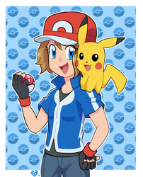 Serena in Ash's Clothes by MLPowerpuff