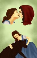 Belle x Red Riding Hood: Beauty + the Beast by BLOOD-and-LUST-87