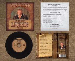CountryLegends Vol I CD 2Panel by RaceyGraphics