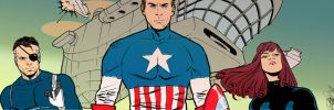 Captain America banner for Blastoff Comics by elena-casagrande