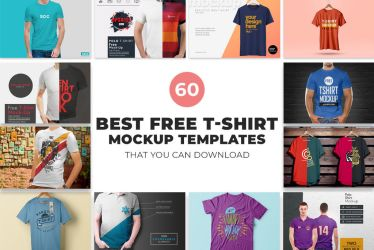 60 Best Free T-Shirt Mockup Templates by symufa