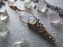 opal necklace by Lethe007