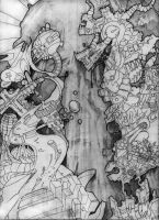 Second Quarter Compositional Drawing by RoboNATION