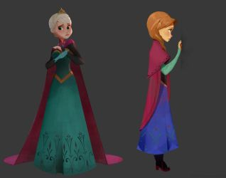 Anna and Elsa by Sonny0029