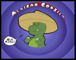 Mexican Godzilla by kingofsnake