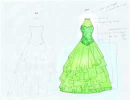 Green Dress by ariesel