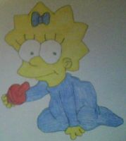 Maggie Simpson by MollyKetty