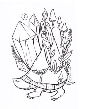 Crystal Turtle free coloring page by Kattvalk