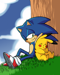 Smash Ultimate - Sonic and Pikachu by pedrocorreia