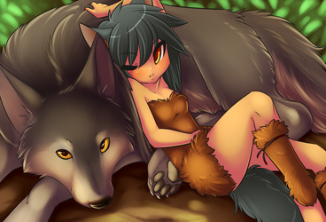 Sleeping With Wolves by SpazzyKiti