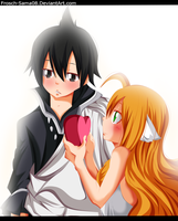 Zeref Dragneel And Mavis Vermillion -Color- by Frosch-Sama08
