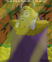 Asgore and the Flowers by Pomania