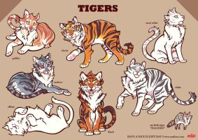 COLOR TIGERS by mofuwa