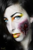 Poison Candy Corn Halloween MakeUp by Chuchy5