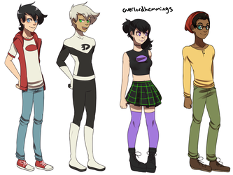 Danny Phantom College/Uni AU redesigns by ChibiForte101