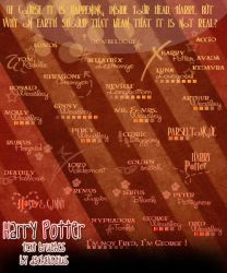 Harry Potter text brushes. by daChelissius