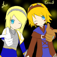 League of Legends: Ezreal x Lux by TheMuteMagician
