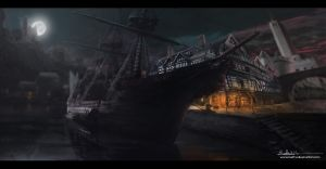 Pirate Ship by MattWilkinson